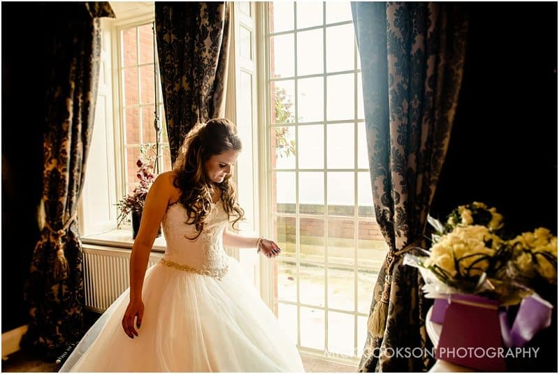 bride at eaves hall