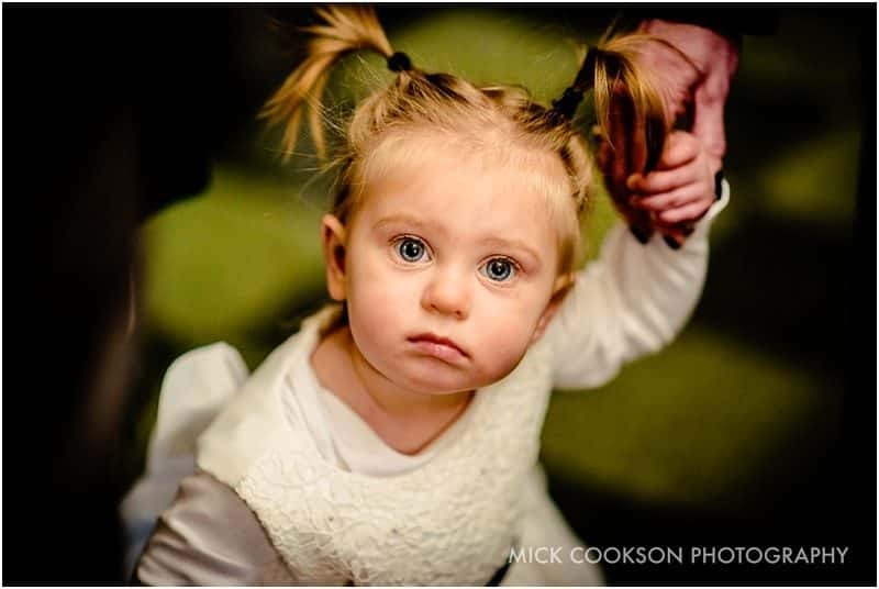 beautiful flower girl at a wedding