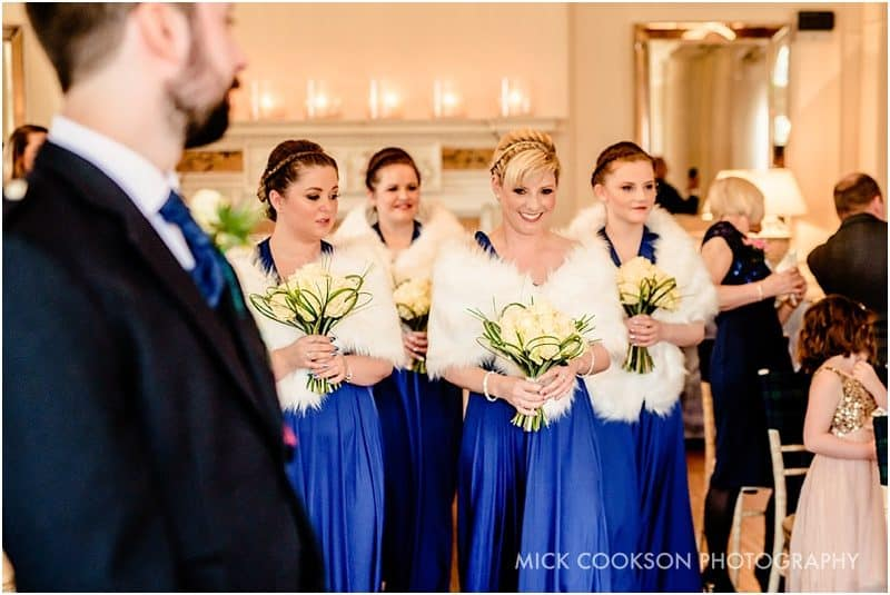 bridesmaids at eaves hall