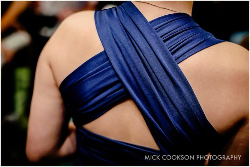 bridesmaid blue dress detail