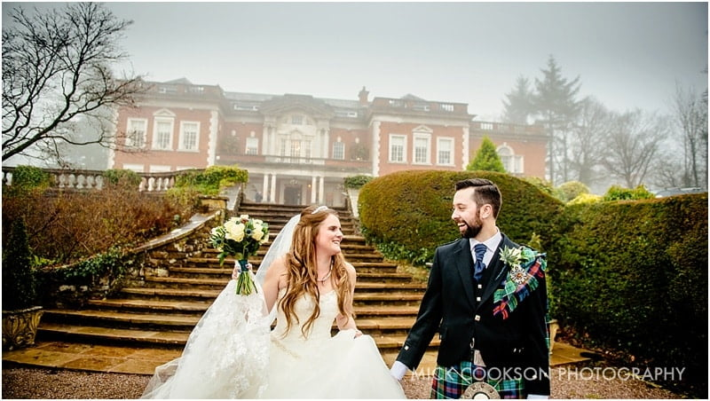 Eaves Hall Winter Wedding Photography – Sarah & Michael