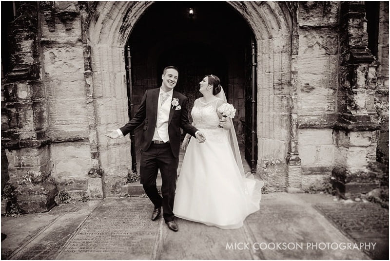 bride and groom in middleton