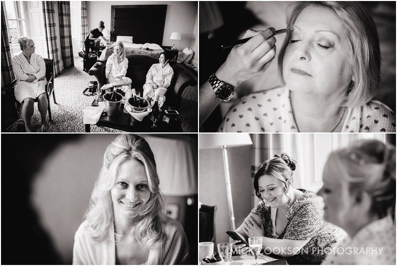 bridal preparations at shrigley hall