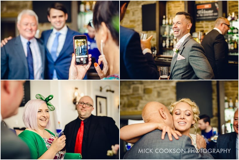 wedding guests meeting at shrigley hall