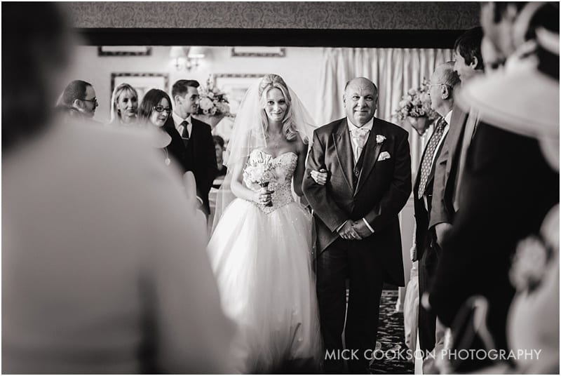 entrance of the bride at shrigley hall