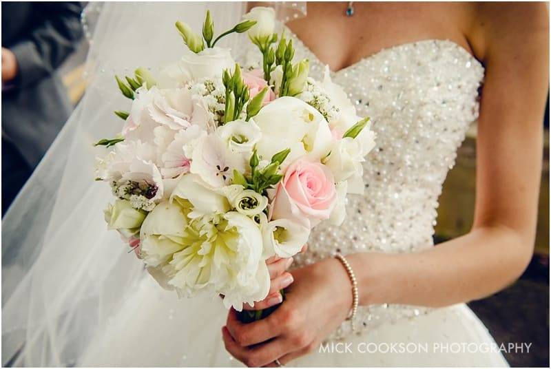 wedding bouquet at a cheshire wedding