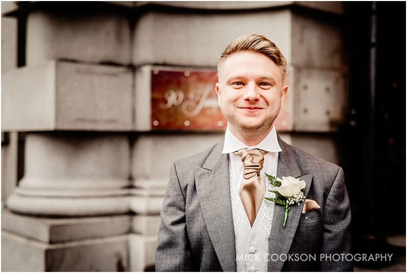 groom outside 30 james street hotel