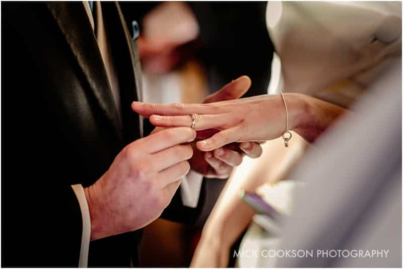 wedding ring goes on the bride's finger
