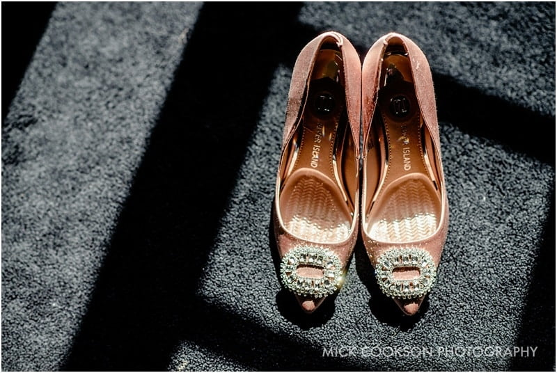 wedding shoes in the sun at 30 James St hotel