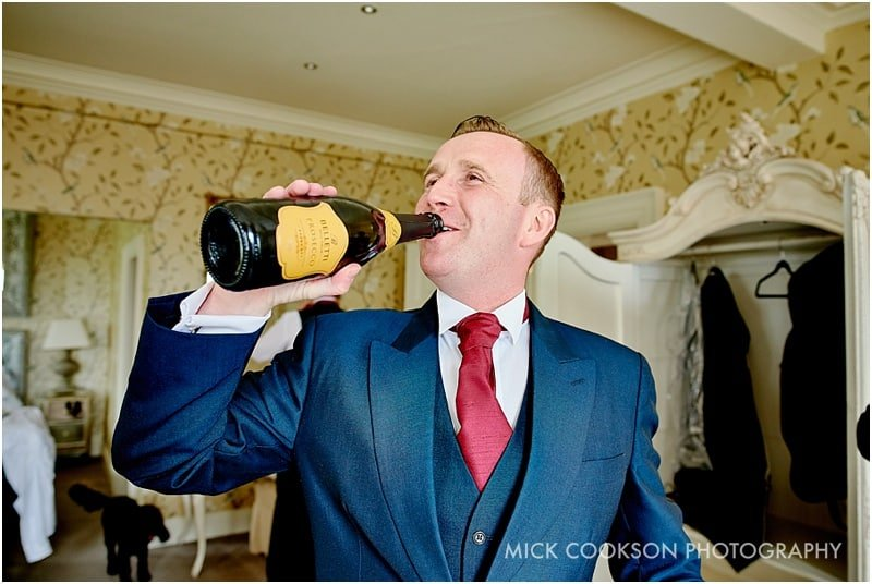 drinking prosecco from the bottle