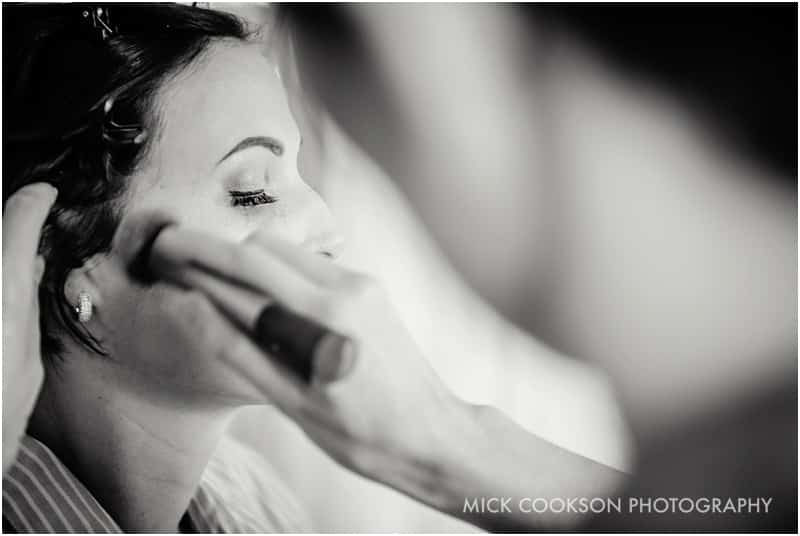 bride getting ready in manchester