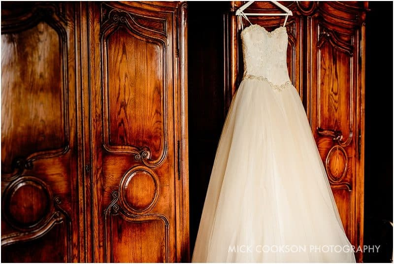 wedding dress at eaves hall
