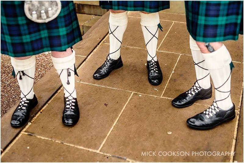 groomsmen kilts at a lancash=ire wedding