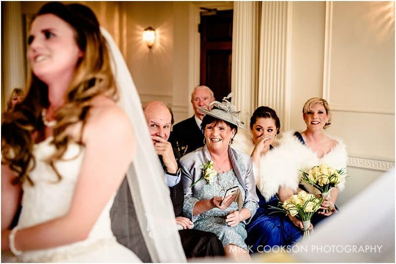 smiling parents during a wedding