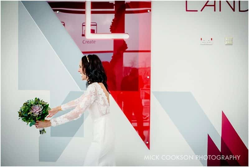 bride at the landing media city