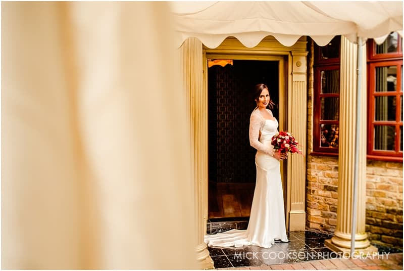 stunning bride photo at the crazy bear stadhampton