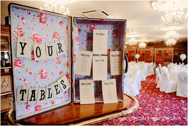 table plan at the royal toby hotel