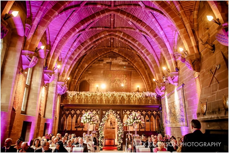 great hall at peckforton castle wedding