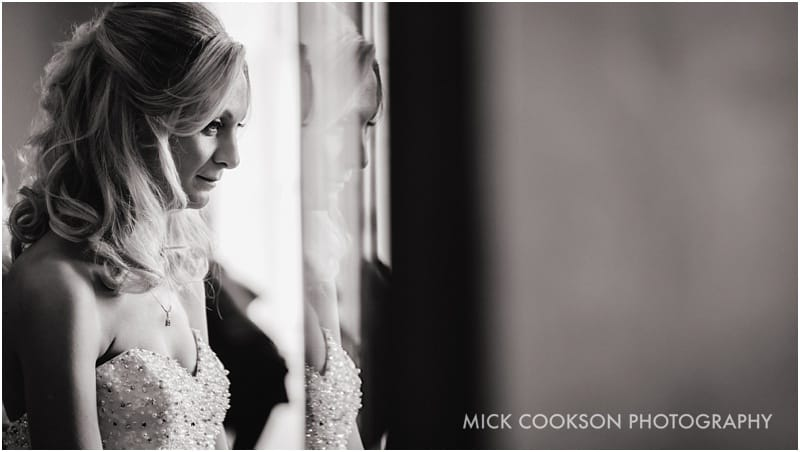 pensive bride at shrigley hall