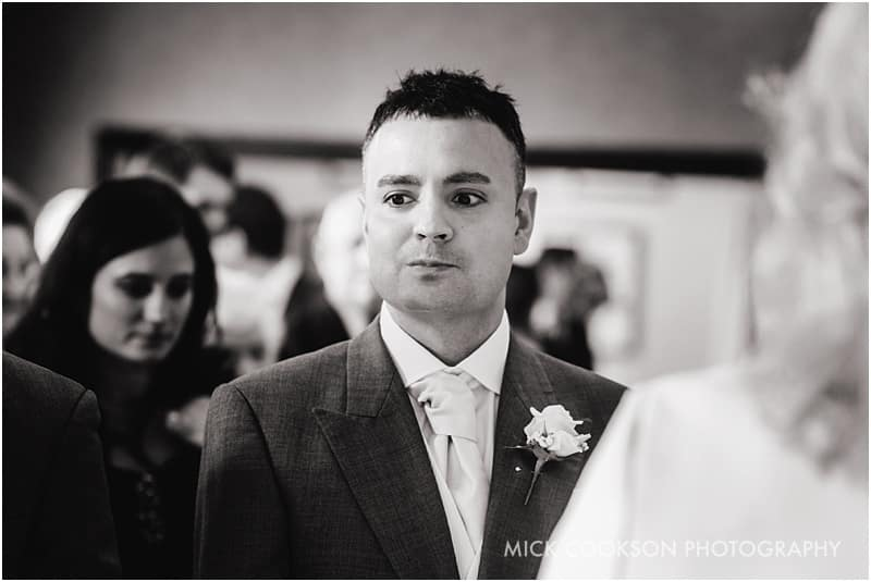 pensive groom at shrigley hall