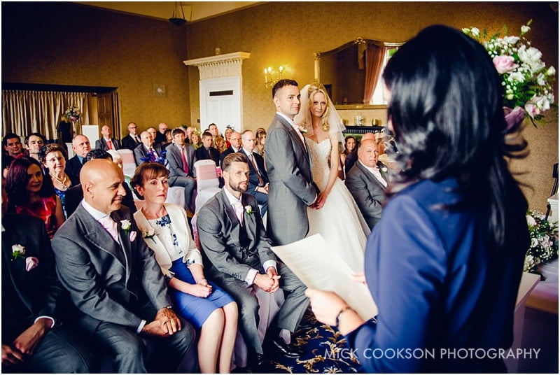 wedding ceremony at shrigley hall