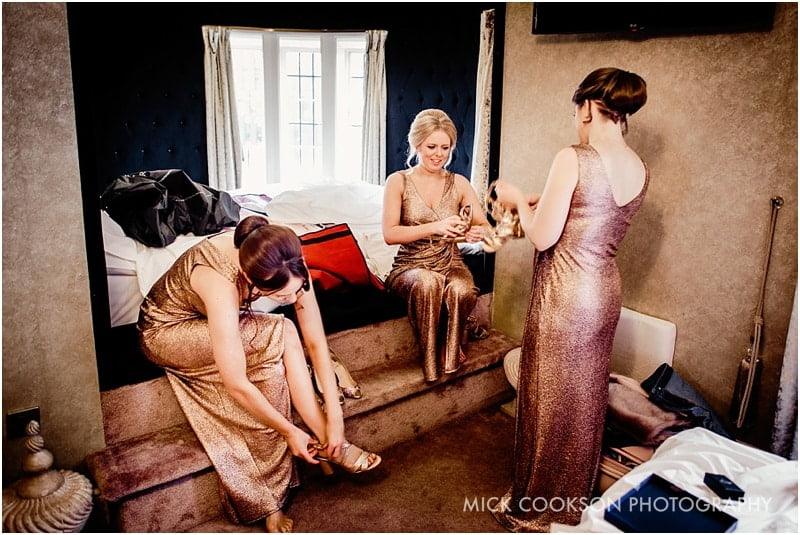 bridesmaids getting ready at 30 james street