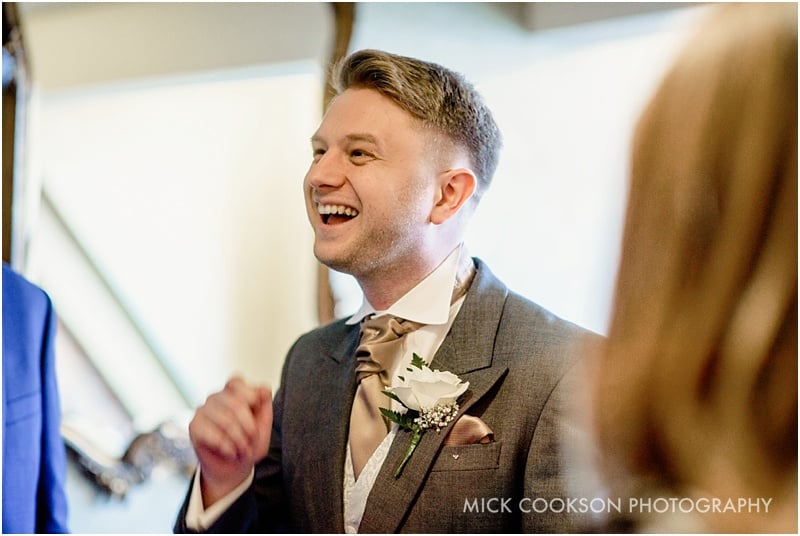 happy groom at a 30 james street wedding