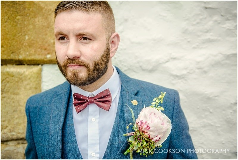 stylish groom in the ribble valley