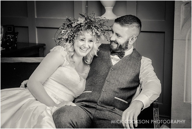laughing couple inside the spread eagle sawley