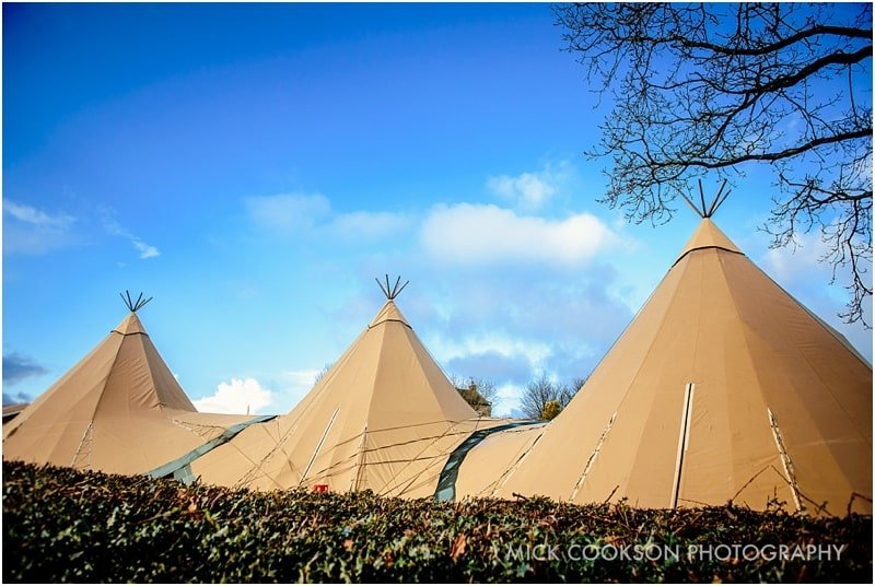 tipi wedding in a lancashire field