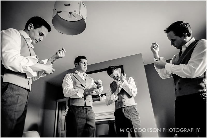 groomsmen with their cufflinks