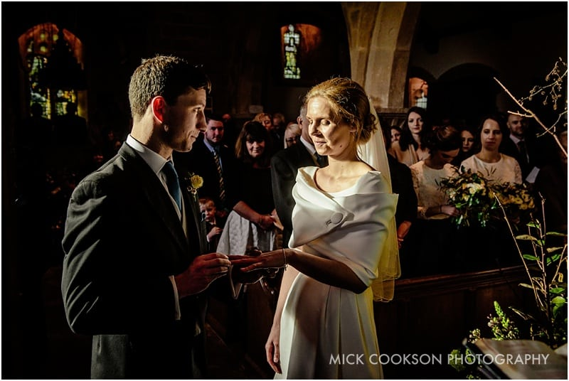 wedding vows at a lancashire wedding