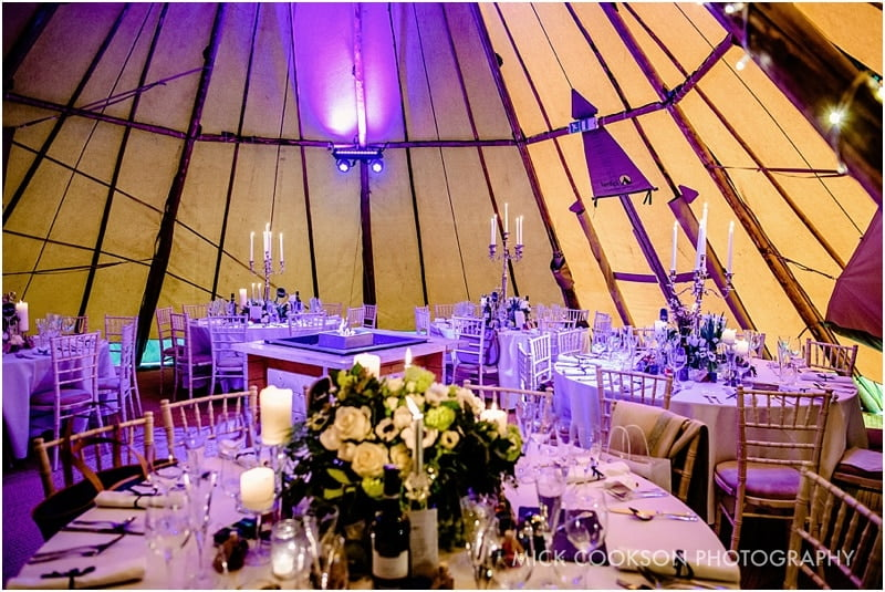 wedding tipi reception