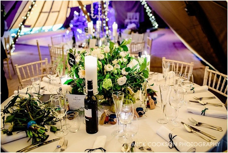 tipi wedding tables