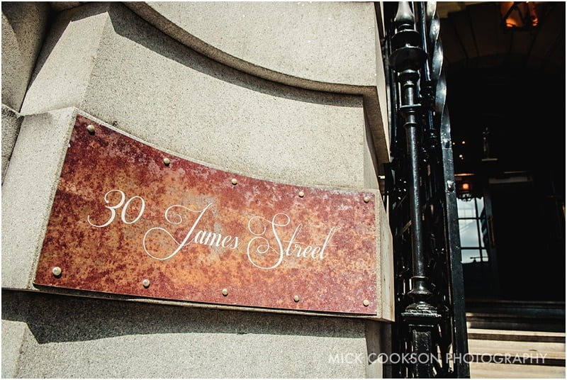 30 James St Hotel Wedding Venue