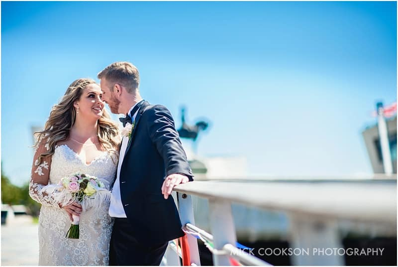 wedding photos at pier head
