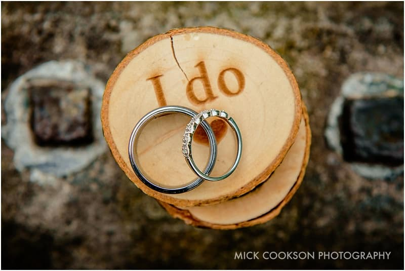 wedding rings at a lancashire wedding