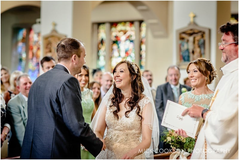 wedding ceremony at st gregorys chorley