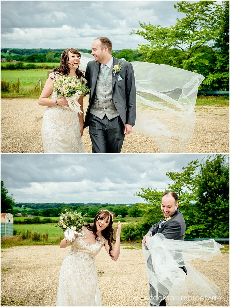 happy couple at beeston manor