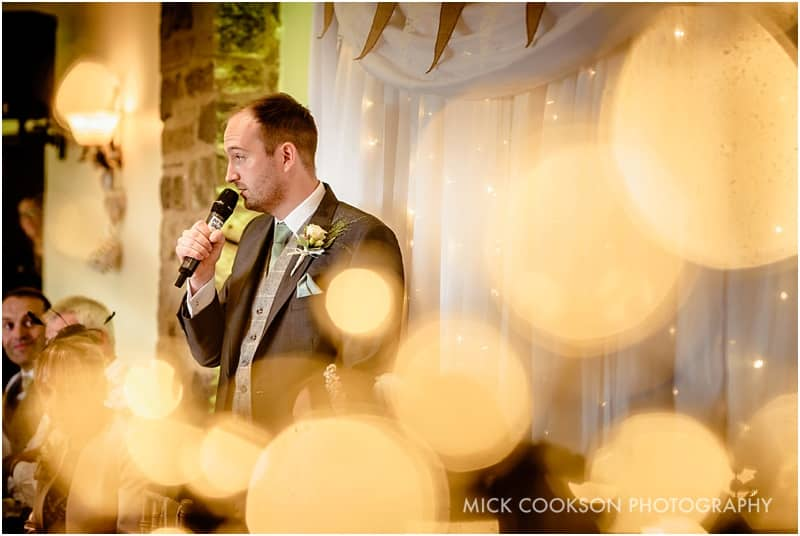 groom making a speech at beeston manor