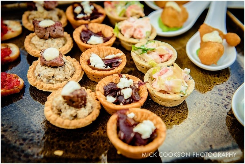 canapes at the fisherman's retreat