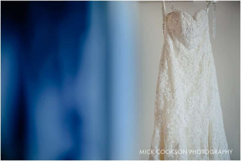 wedding dress at the holiday inn