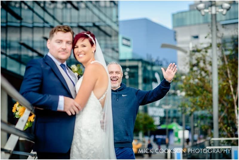 wedding photobomber