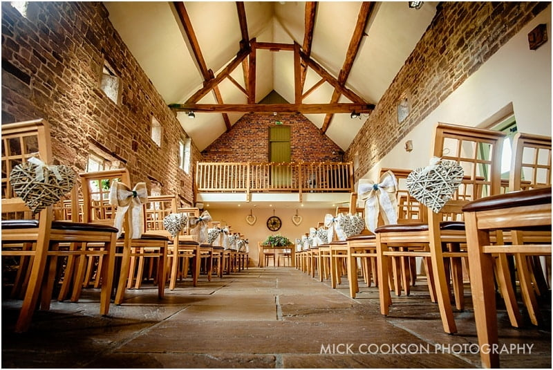 the ashes barns wedding venue west barn ceremony room