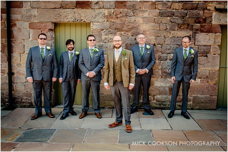 groomsmen photo at the ashes