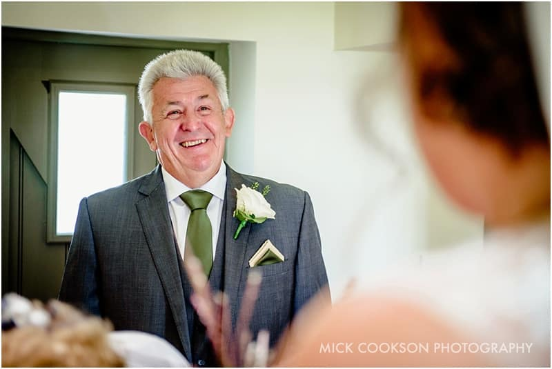 father of the bride sees his daughter