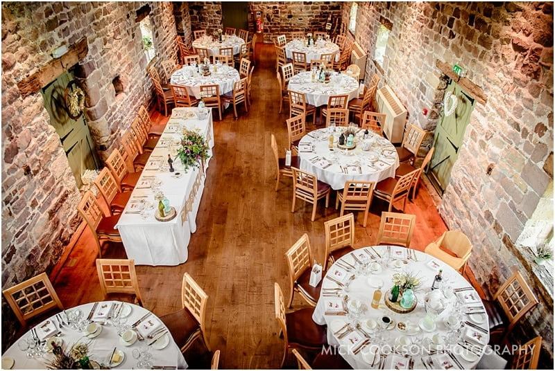 the ashes barns wedding venue set up