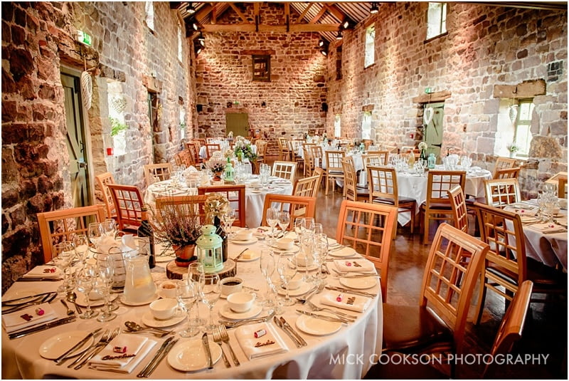 the ashes barns exclusive wedding venue set for a wedding