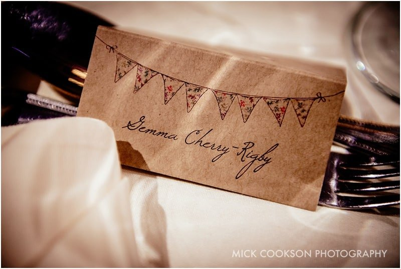 bride name place setting