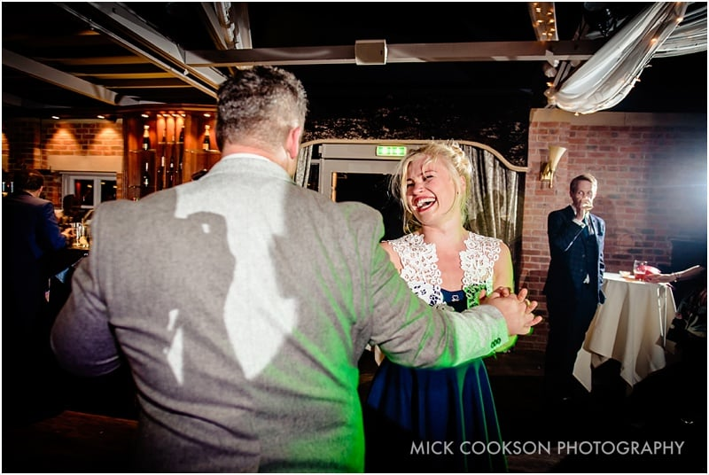 wedding guests dancing at bartle hall